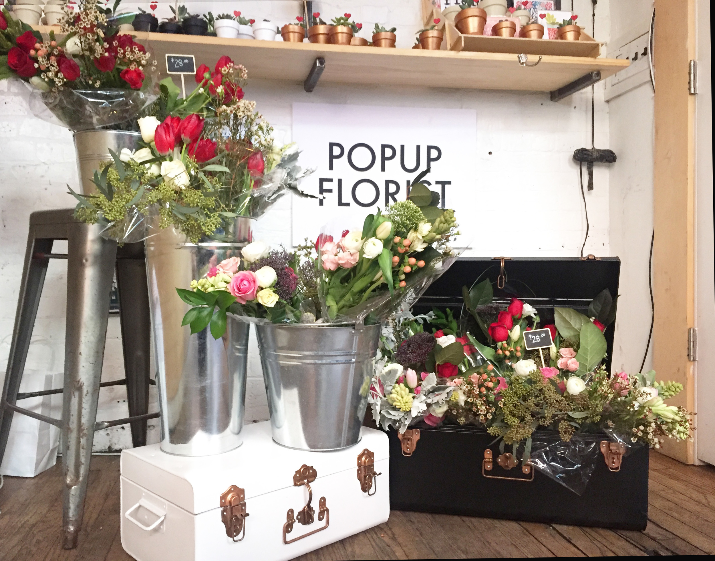 POPUPFLORIST Valentines Day 2016 at The Elk