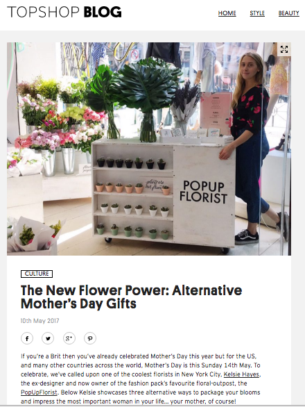Topshop Blog Mother's Day Feature