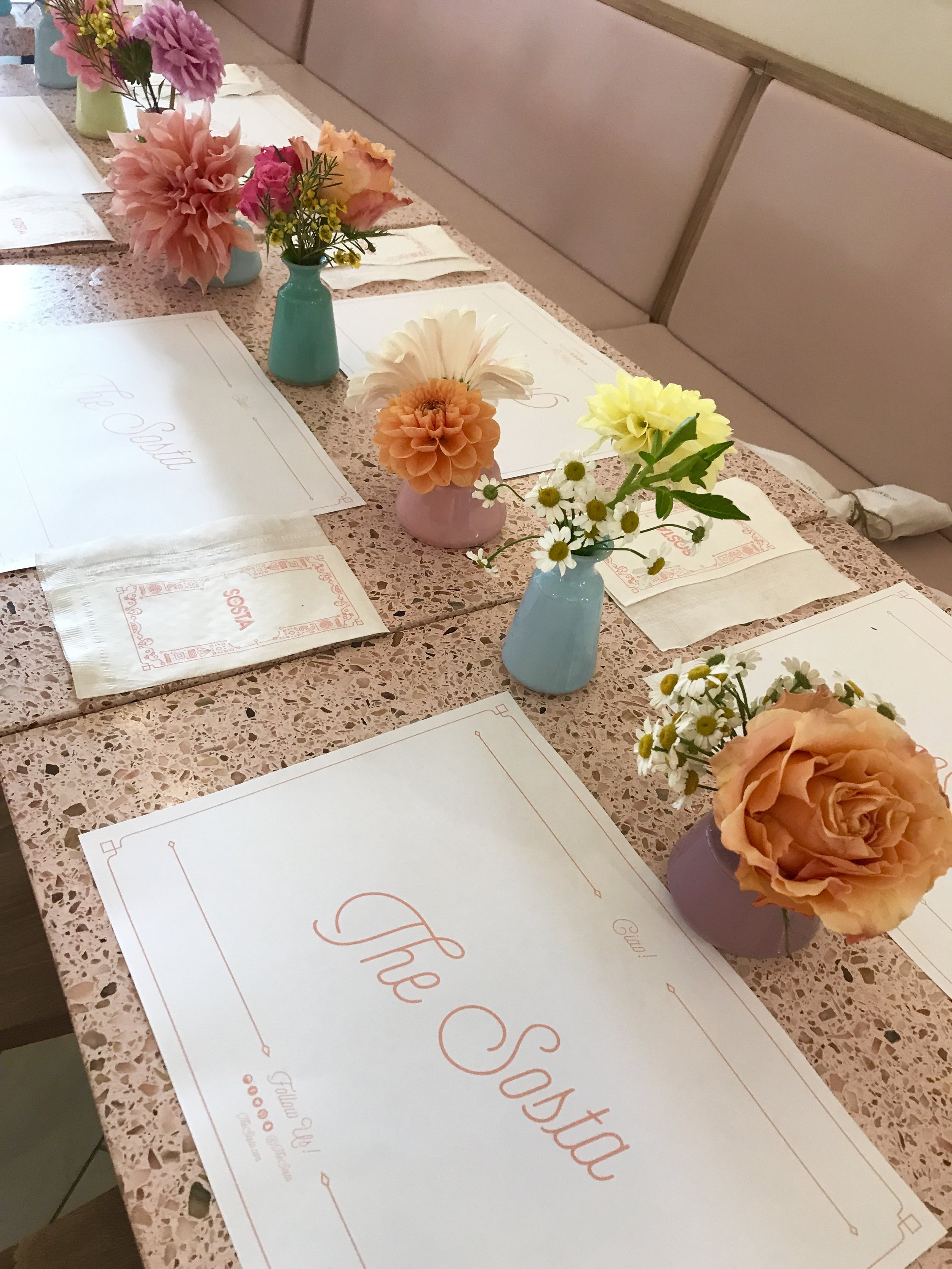 Petite Studio Dinner at the Sosta