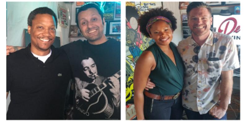 (L-R) Guests Joe Willis, Saurabh Kikani, Kamali Minter and Matt Kinsey