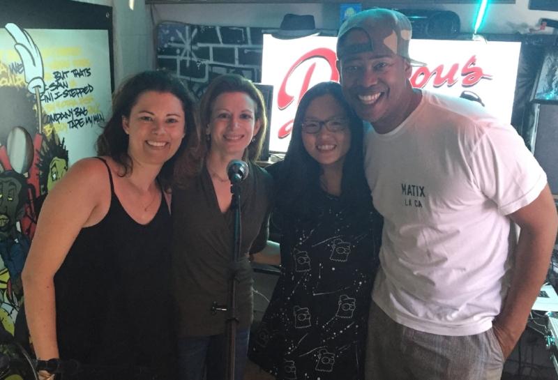 (L-R)Host/producer Megahn Perry, Guest Carrie Shuchart, Guest Hyeran Lee, Host/producer Vidal Marsh