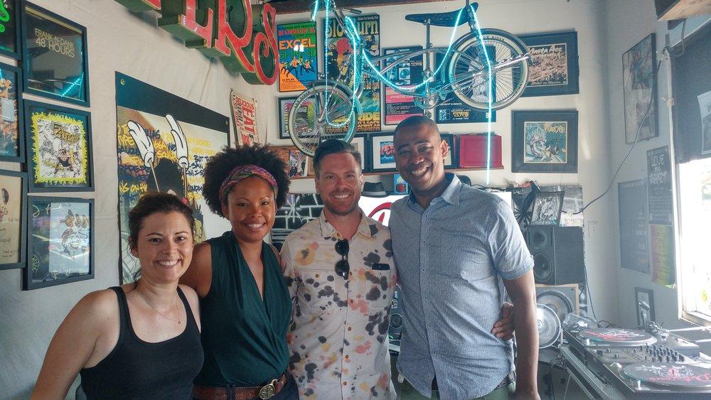 Co-host/producer Megahn Perry, Kamali Minter, Matt Kinsey & co-host/producer Vidal Marsh.
