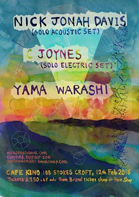 Beatiful gig poster by Yoshino Shigihara.