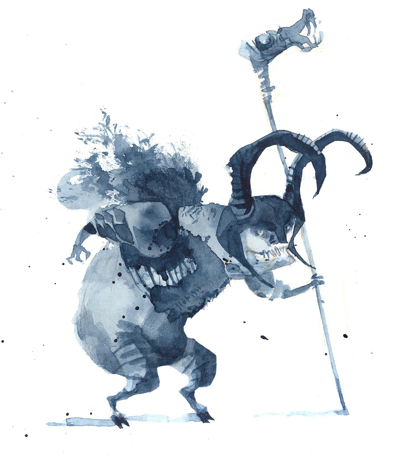 Horned goblin
