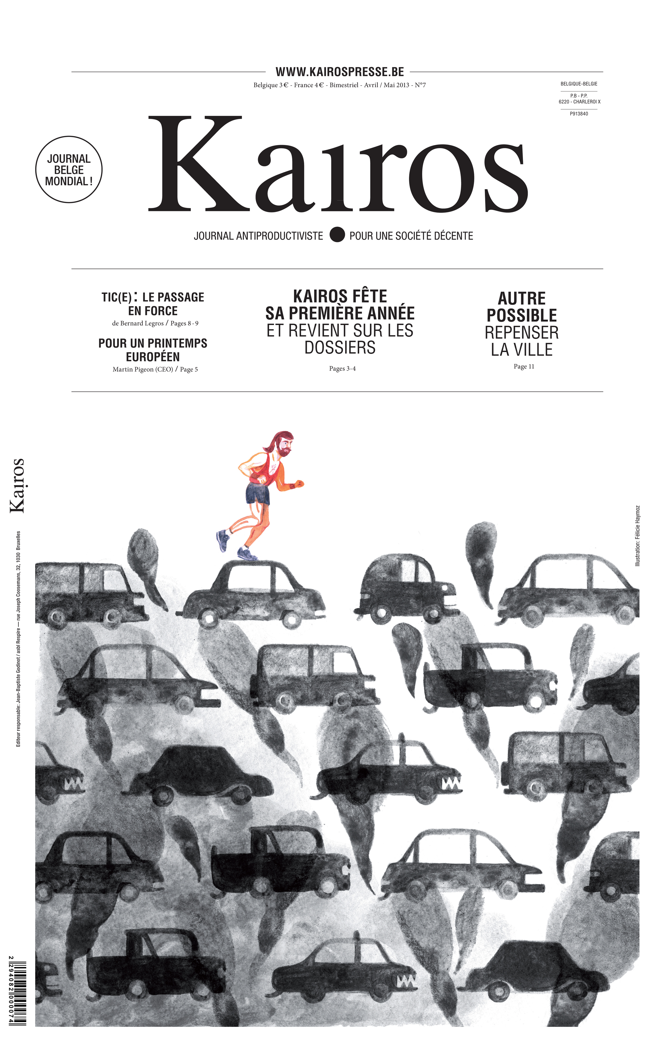 Cover for the Kairos Magazine issue 7 on the theme Rethinking the City