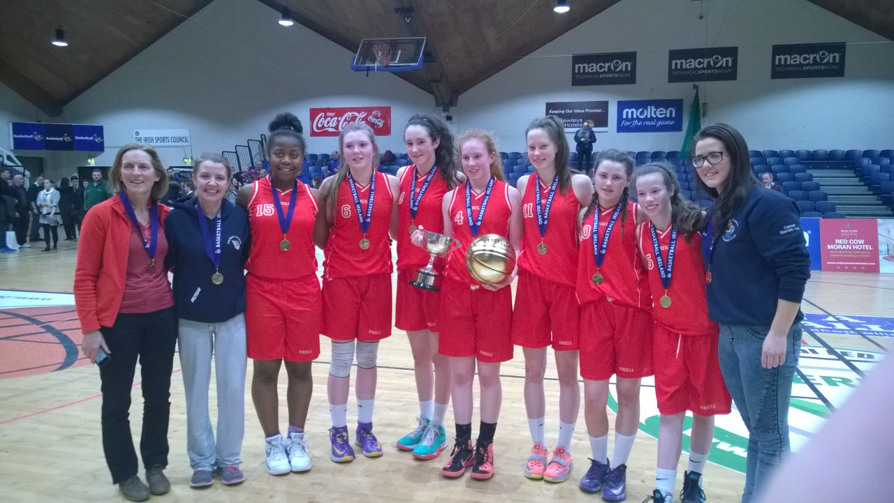 U16 Girls Basketball. Today the girls were crowned All U16A League Champions after a hard fought final in the National Basketball Arena. This rounds off the perfect year for the team having already won the All Ireland A Championship. Sorcha Tiernan was awarded the Golden Ball for her captains performance. Congratulations is also due to coaches Yvonne and Erin Bracken as well as Mary McGuire. The whole school community is proud of their achievements.