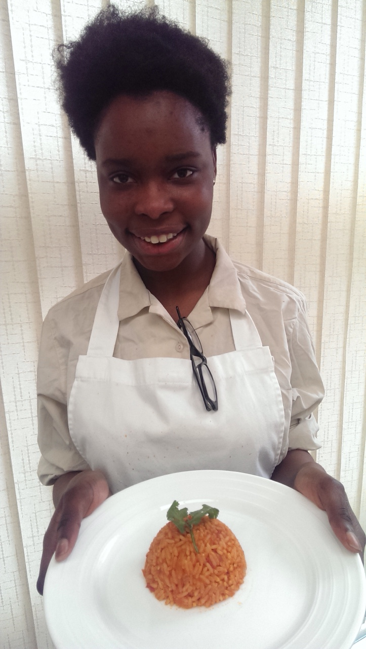 "Omena 3A4 made Jollof Rice for her mock Junior Cert Home Ec. Food and Culinary Skills exam. Her brief asked her to ""prepare, cook and serve the complete main course of an ethnic meal"". It was prepared with great skill and care and was absolutely delicious!  Well done Omena! We are very proud of you!"