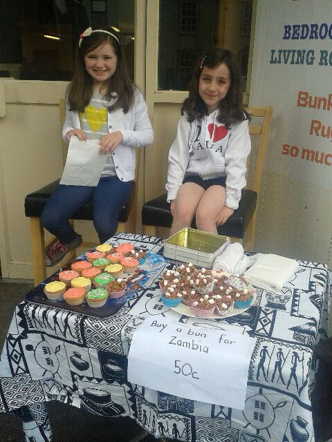 Two of our youngest Action Zambia supporters, Grace and Niamh made buns and sold them to raise some money for school uniforms in the school in Kalomo. Super idea girls, well done.