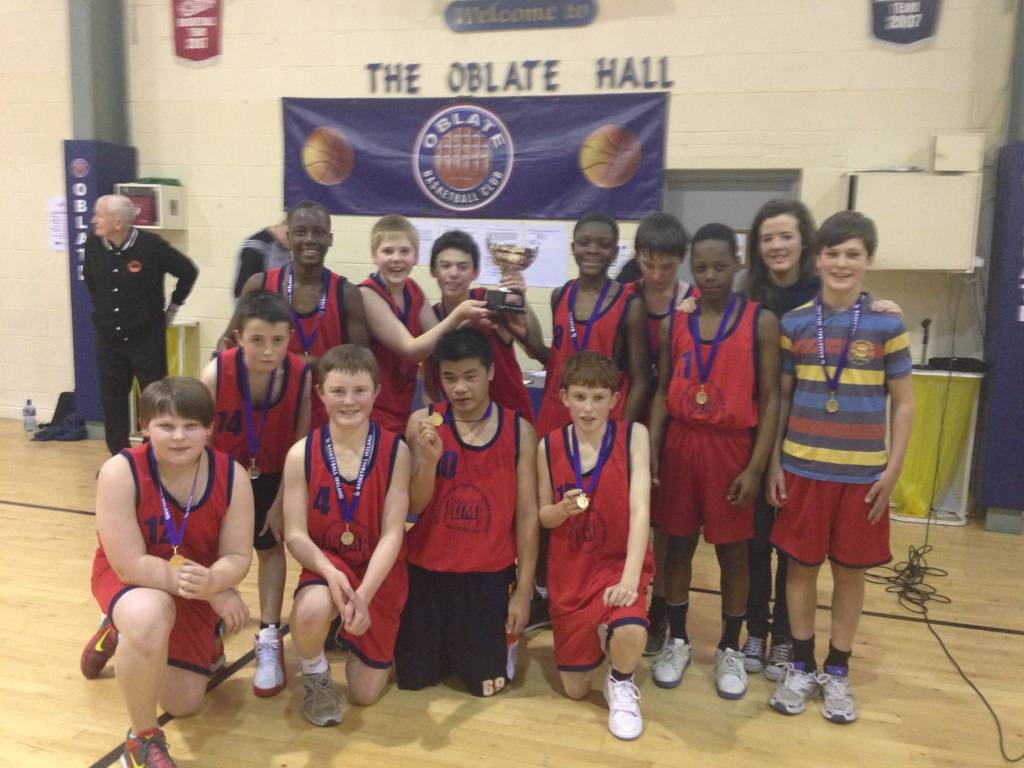 Colaiste Chiarain 1st year boys are Dublin C League Basketball Champions. Well done to the lads and coaches Yvonne Bracken Ms NiScannail and Ms McGuire.