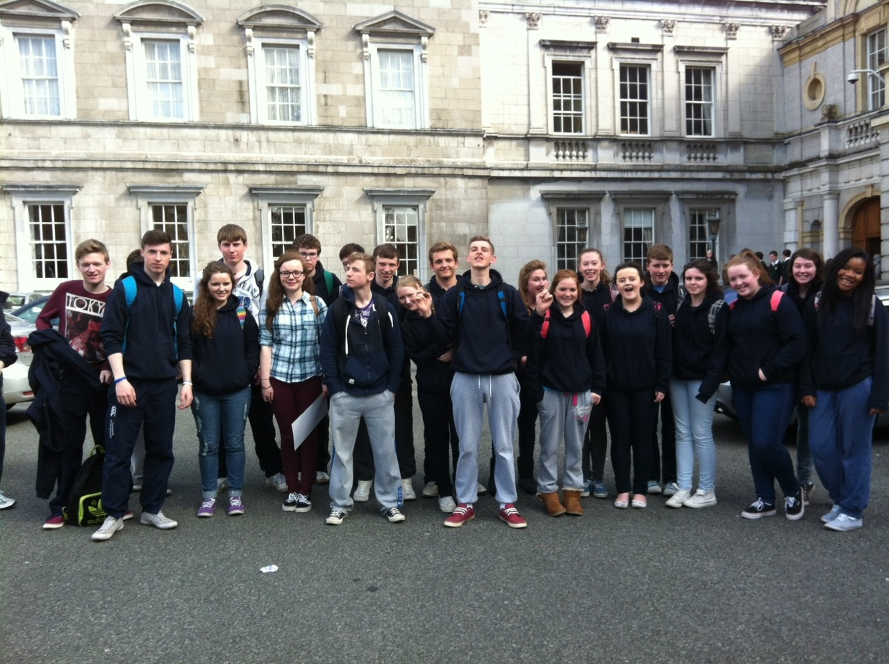 Activity week for Transition Year    Today transition years continued activity week with a trip to Irish Aid. There they took part in a workshop which focused on hunger.  This was followed with a trip to the Dail where they were met by local TD's Catherine Murphy and Emmet Stagg.