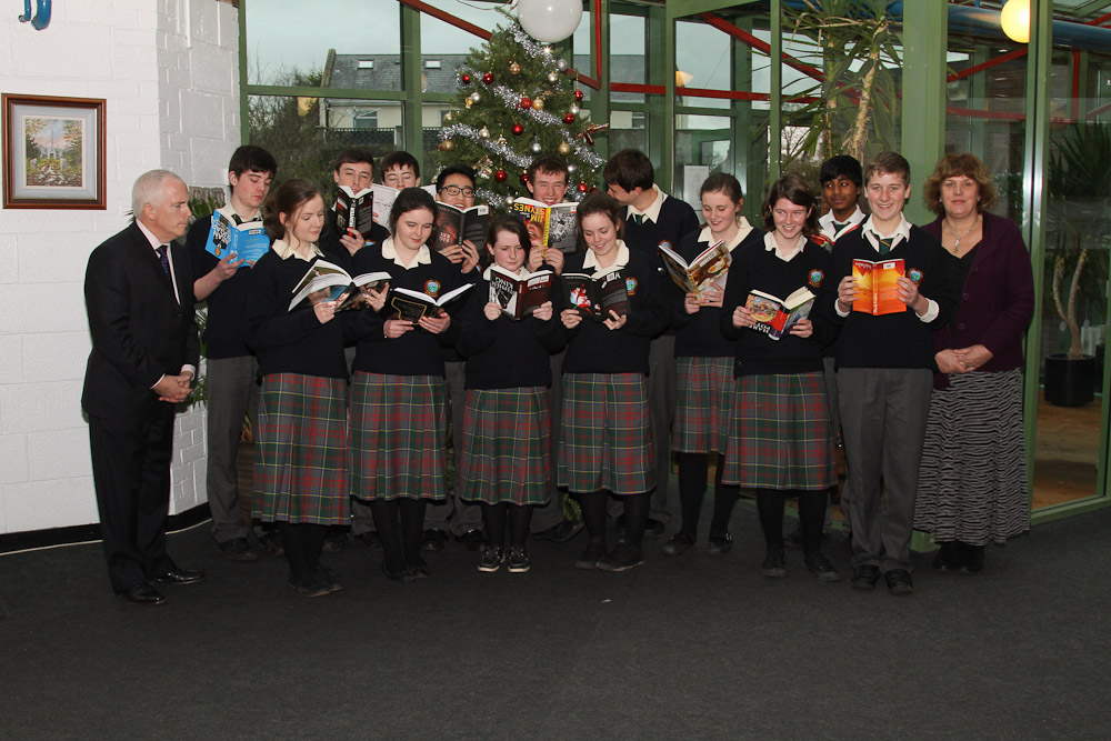 On Friday 14th December we had an award ceremony to recognise the achievements of our 15 top performing Junior Certificate students. The students were presented with a certificate and a book chosen by themselves. The successful students are: Aoife Tiernan, Martha Fitzpatrick, Ellen Greene, Stephen O'Farrell, Tyler Moodley, Caoibhe Hickey, Killian Kane, Naoise Dempsey, Cathal Melville, Killian Hoelze, Eanna Harrison, Laura Reynolds, Yin Hao Tan, Thomas Doyle, Shane O'Meara.