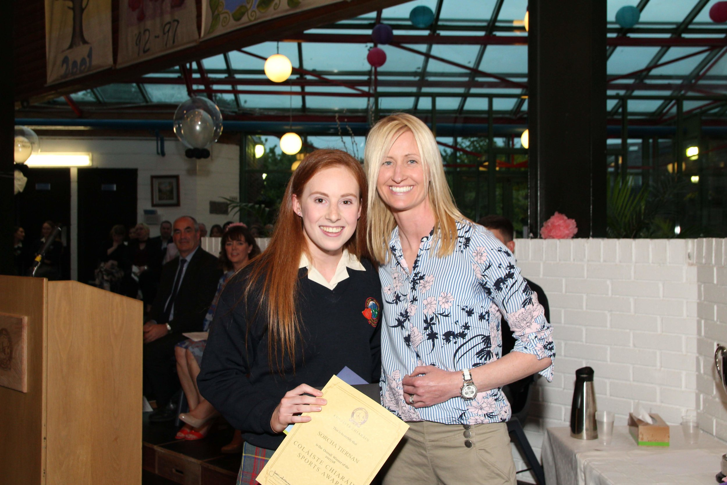Sorcha Tiernan. Overall sports personality of the year.