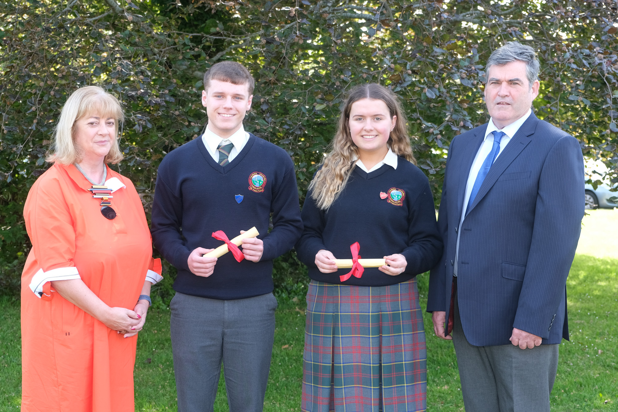 6th Year Male and Female student of the year.  Ann Courtney, Eanna Ginnetty, Ellen Devine, Dan Broderick