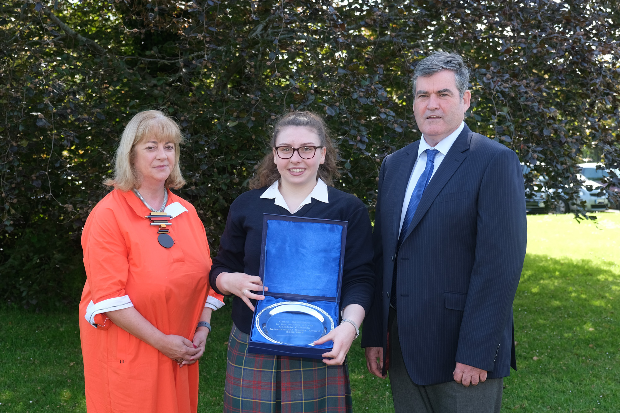 International Sports Award.  Ann Courtney, Ciara Saunders, Dan Broderick