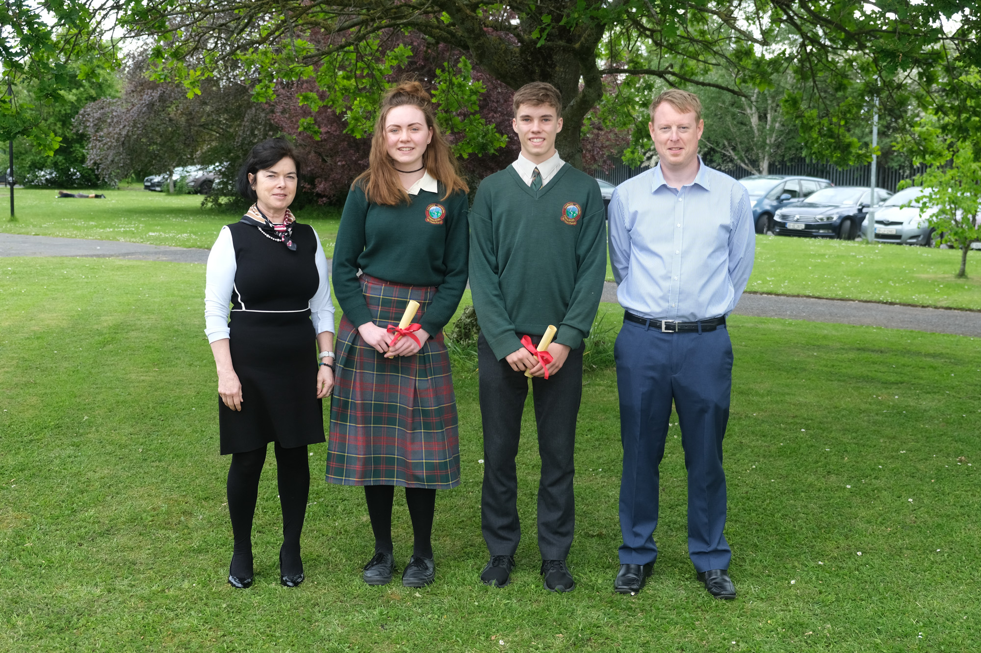Arts and Literature Award  Betty O'Hare, Katerina Healy, Keeley Hogan, Mark Kennedy