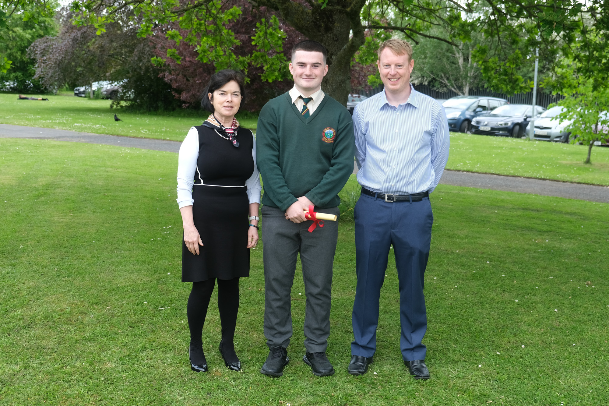 Spirit Of Colaiste Chiarain  Betty O'Hare, Glen Morahan, Mark Kennedy