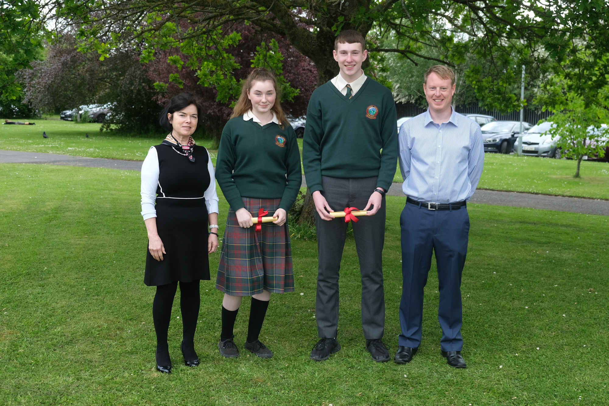 3rd Year Student of the Year.  Betty O'Hare, Aoileann Hayes, Cian Tiernan, Mark Kennedy