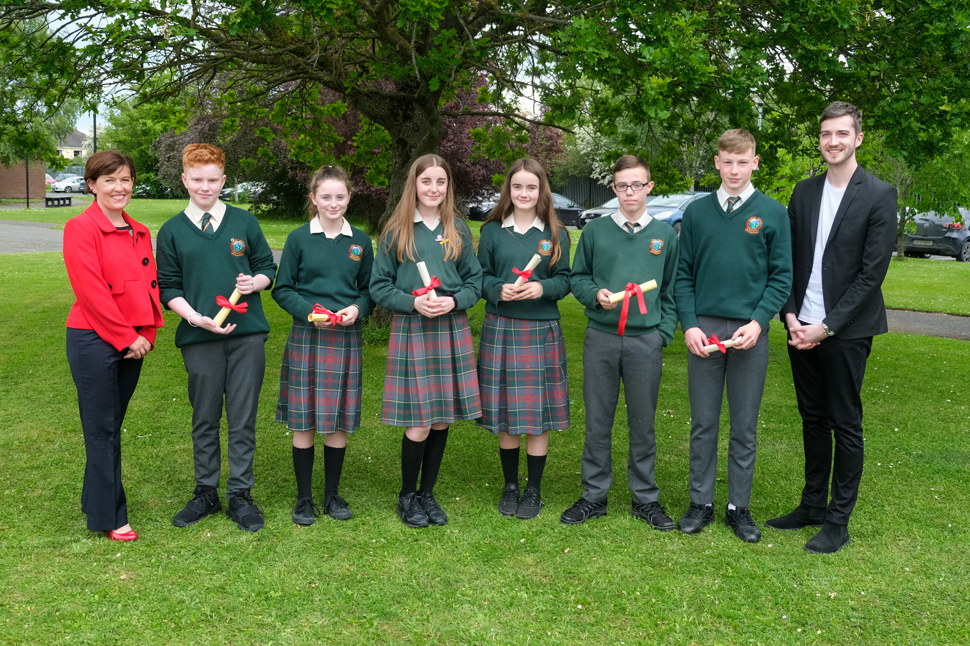 2nd Year Class Awards  Louise Doran, Oisin Dolan, Sophie Browne, Shauna Mooney, Kerrymay Prenderville, Tadhg Traynor, Conall Henson, Evan Kirwan