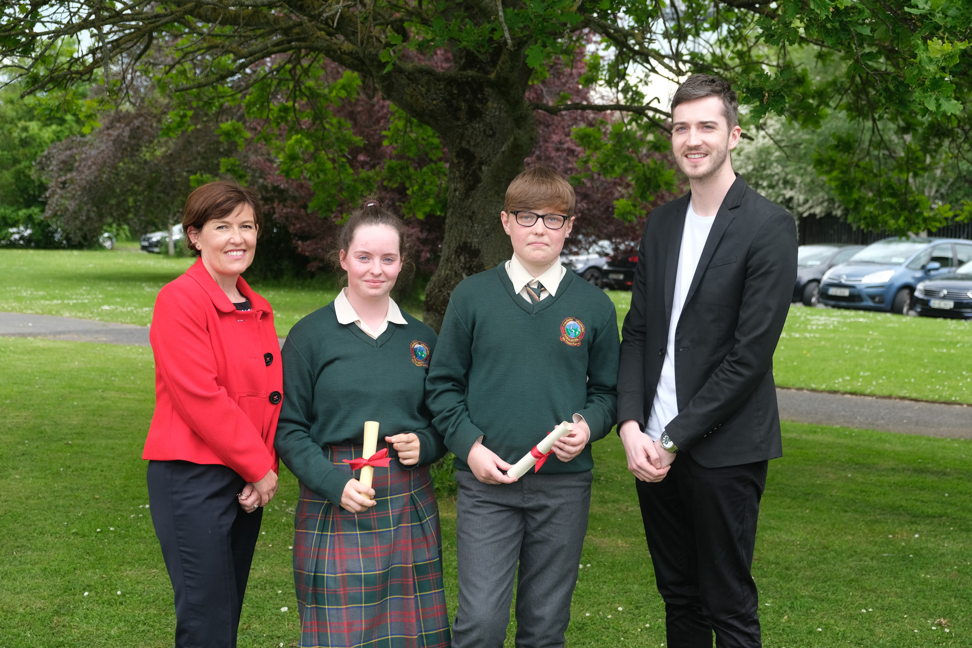 2nd Year Diogras Award.  Louise Doran, Ava Kelly, James Foster, Evan Kirwan.
