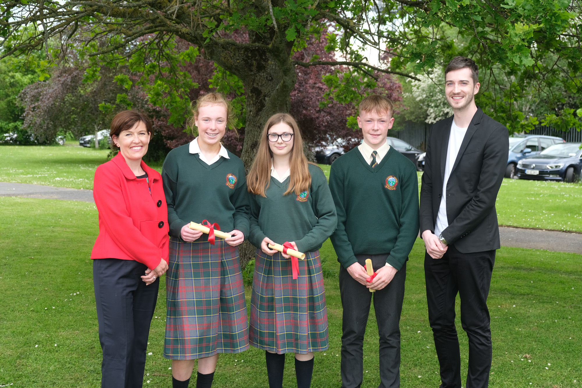 2nd Year Sports Award  Louise Doran, Emily Smyth, Hanna Daly, Paul Donnellan, Evan Kirwan.