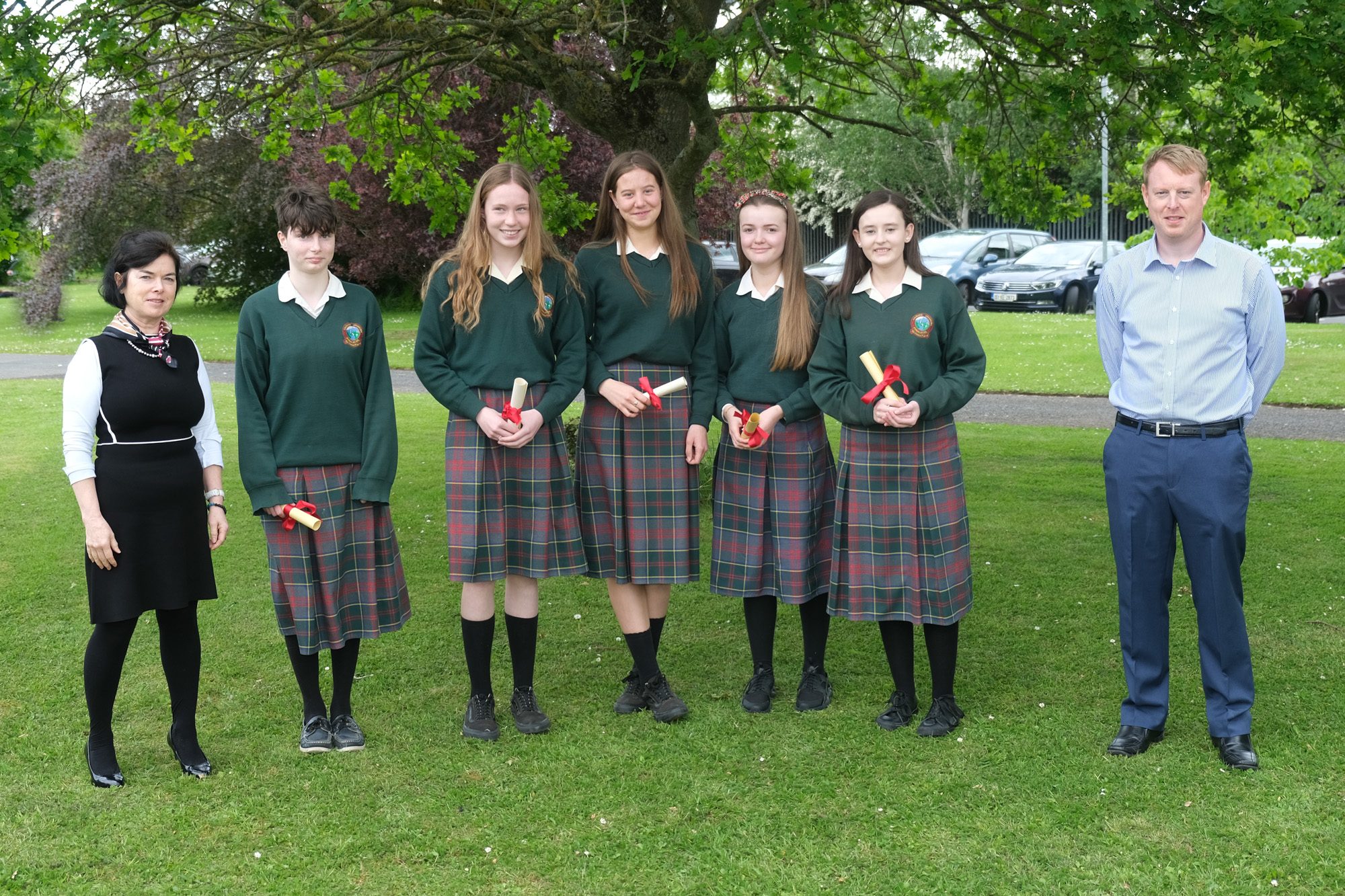 3rd Year Class Awards,  Betty O'Hare, Tara Neville Moynihan , Ailbhe Harrington, Siún O'Gorman, Sophie Baker, Shauna Long, Mark Kennedy
