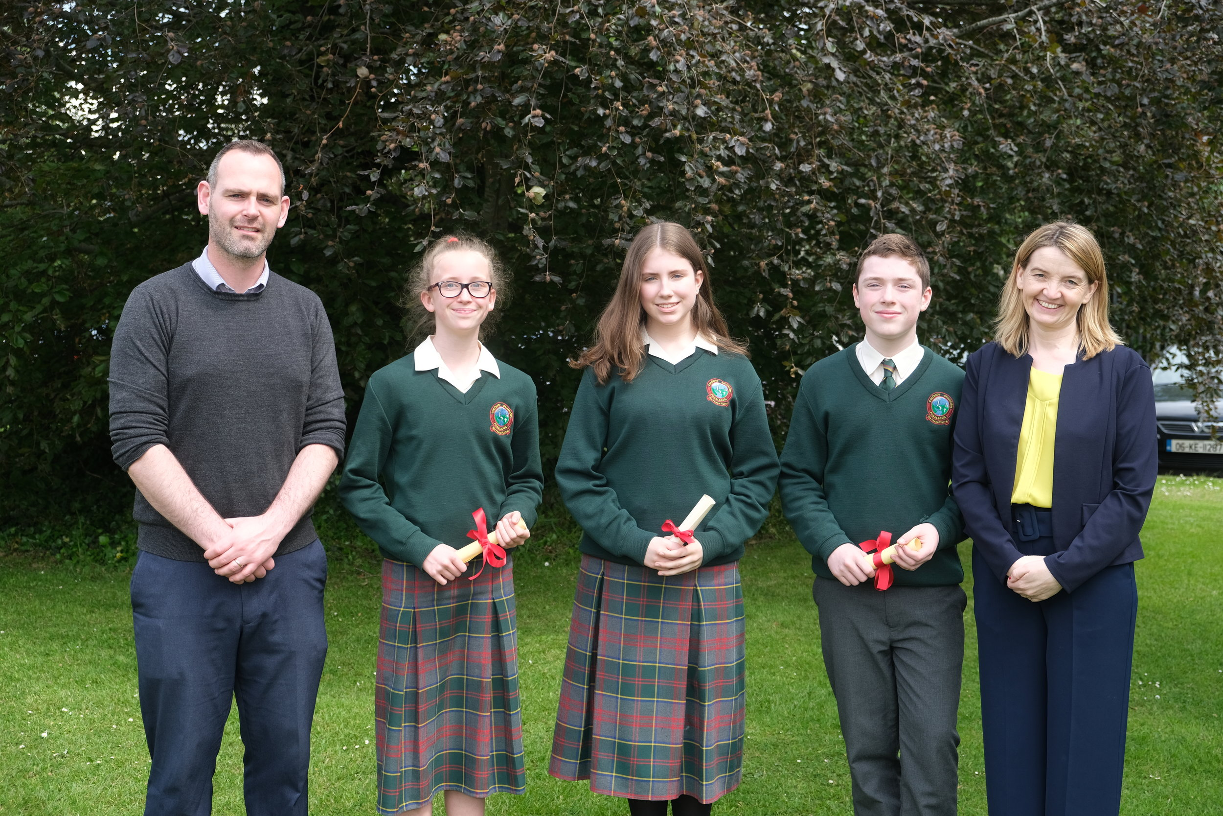 Overall Male and Female Student of the Year  Sean Cotter, Clara Boyce, Amy Heraty (Joint winners) Cillian McPadden, Ceara Mhic Dhonncha