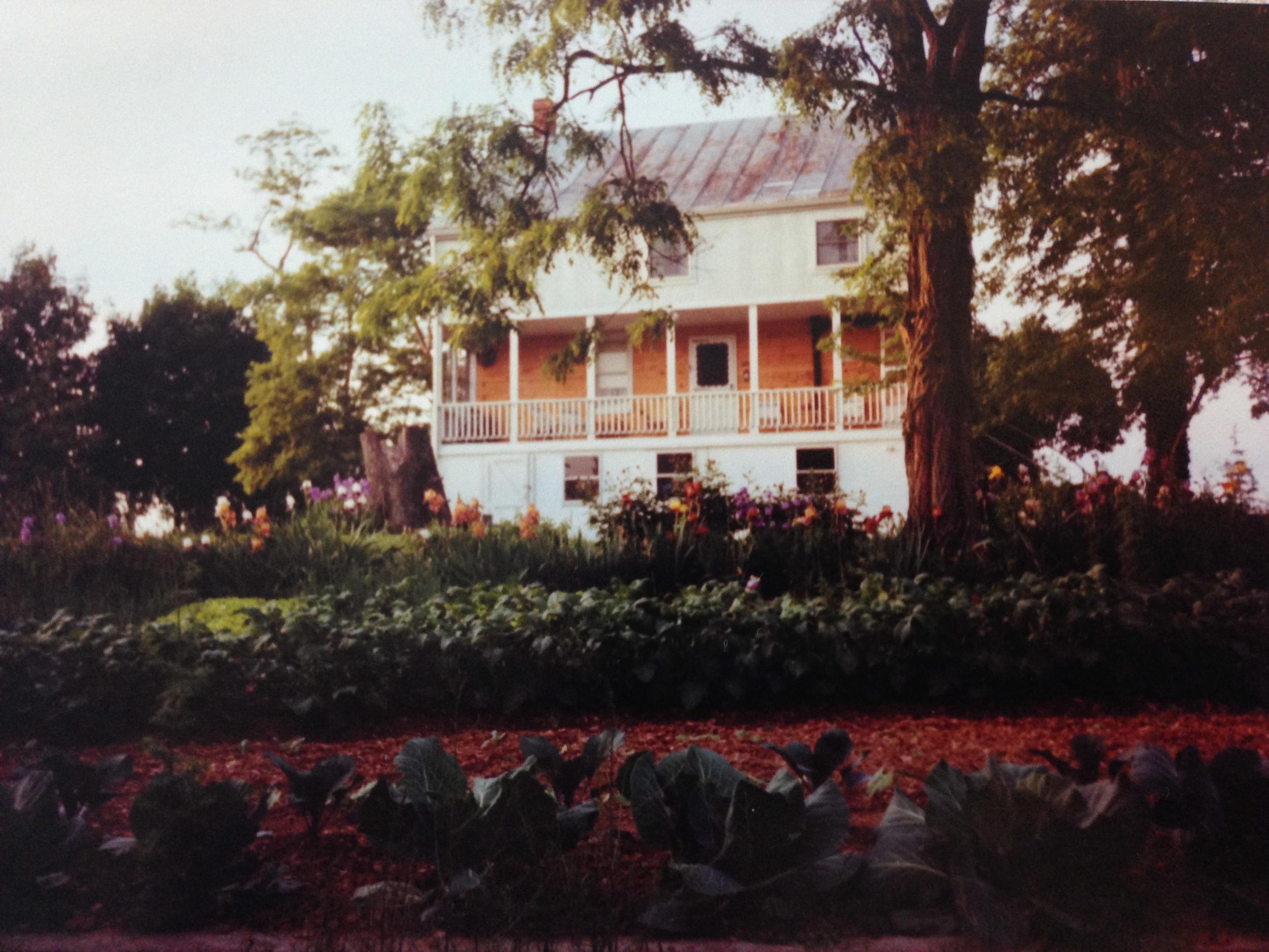 the farmhouse from the garden