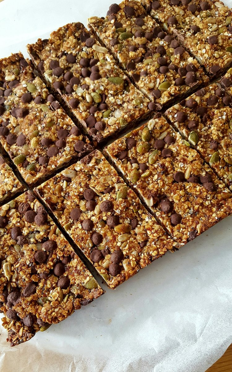 Seedy Choc Chip Muesli Bar - Natalie Brady