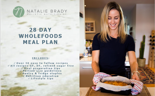 """28 Day Wholefoods Meal Plan - """"I feel so much cleaner, lighter, have a clearer mind and re-energized after finishing this plan. I loved your delicious recipes - they were all so easy to make and affordable!"""""""