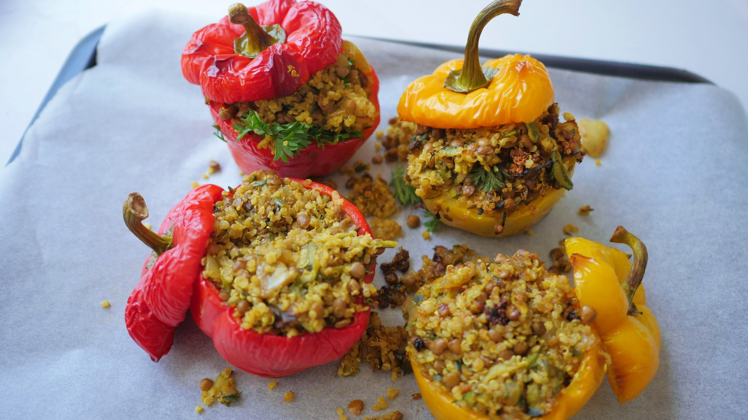 Quinoa and lentil stuffed capsicum.JPG