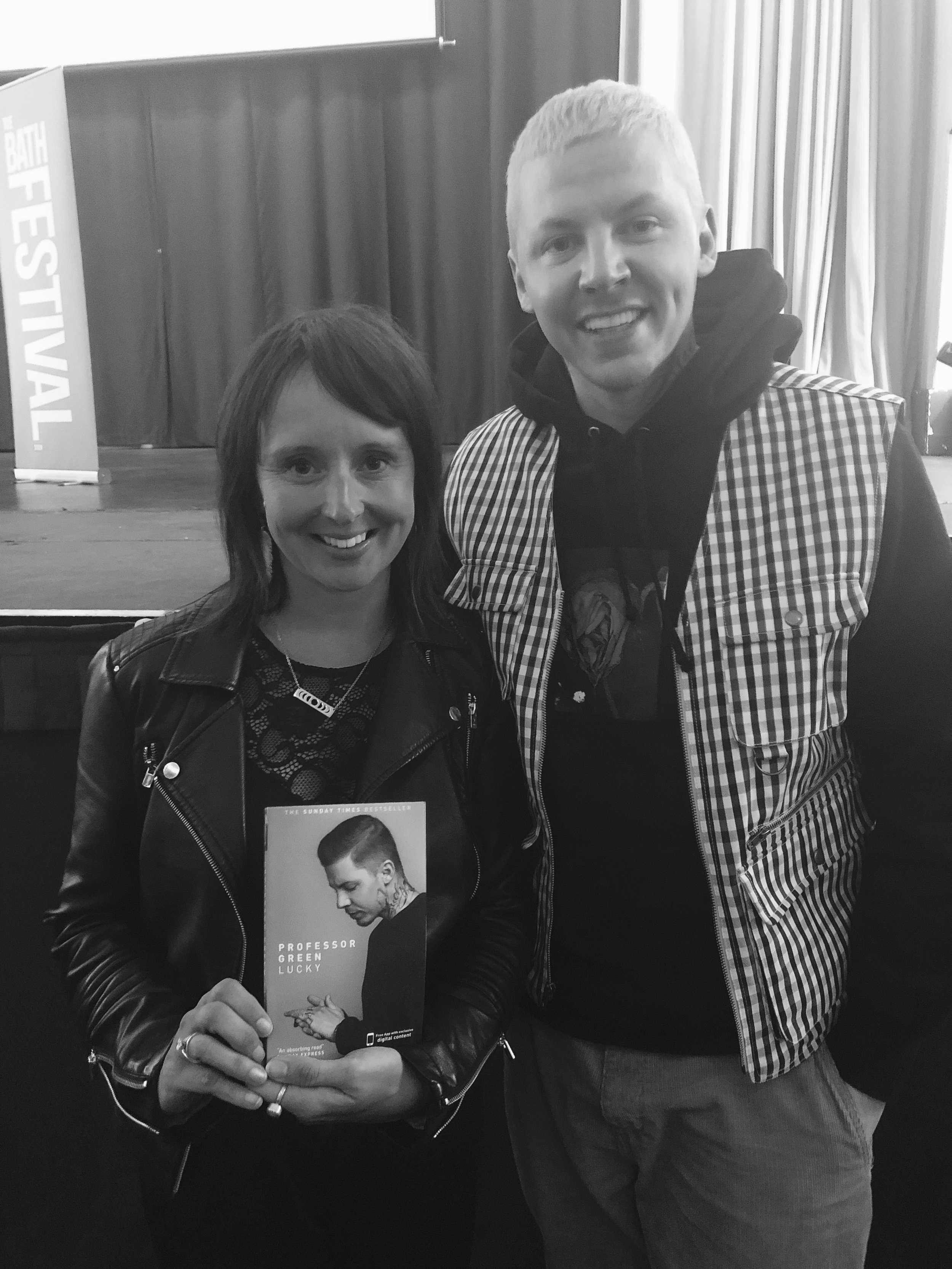 YOGADOO founder, Lucy Aston meets Professor Green