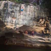 - OH GOD OH GOD OH GOD. Getting scared deep-water soloing at Lake Whitney.