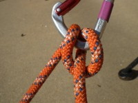 The Münter Hitch knot, still used today in a pinch — ever dropped your belay device before? Imagine doing that 1,000s of feet up ... how are you going to belay?