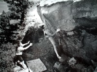 A climber using one of the earlier forms of the Sketchpad.