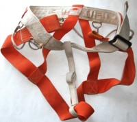 The first commercially-made Troll climbing harness.