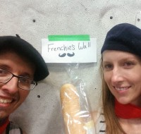 Team Les Fontainbleau found their motherland's wall.