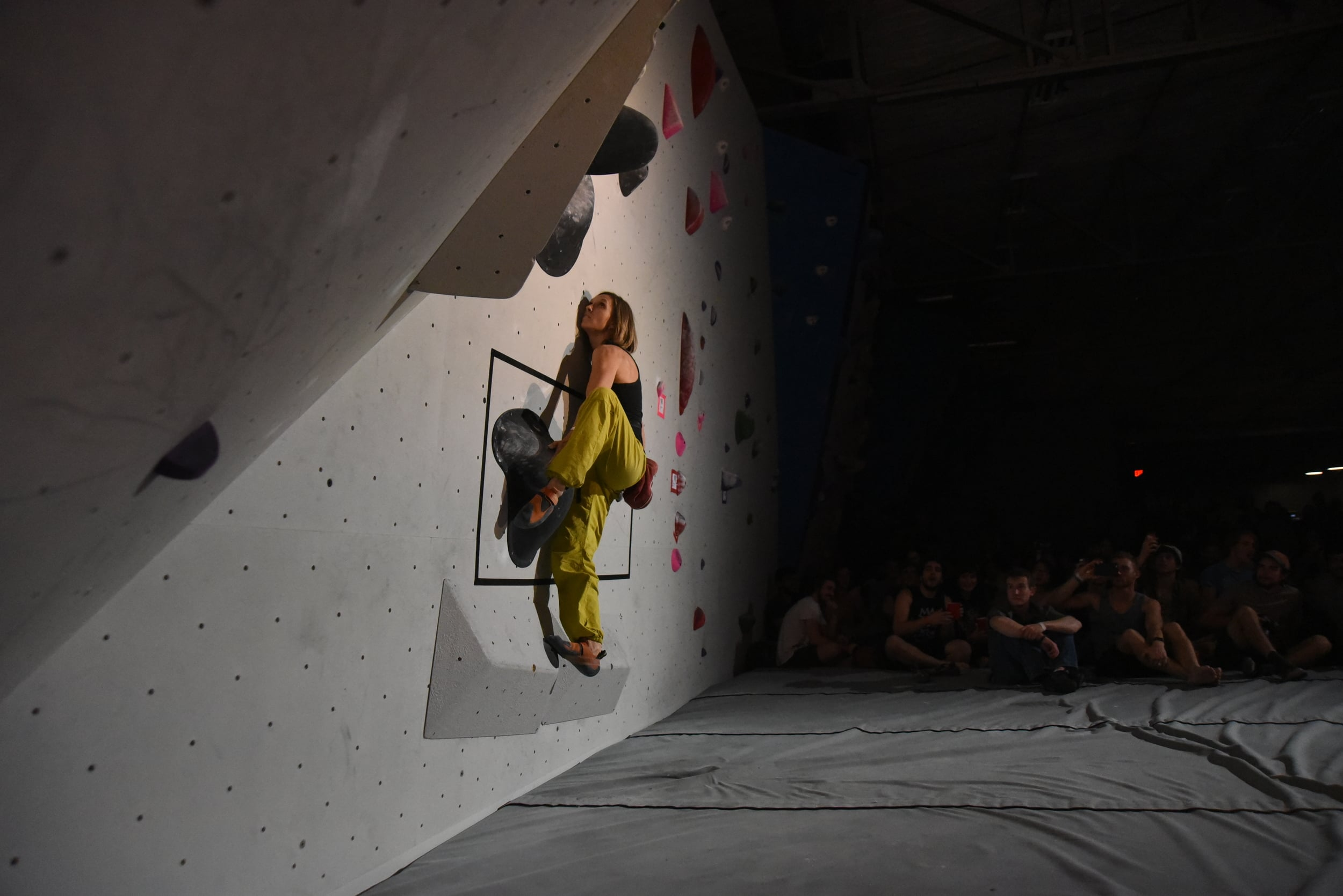 Finals problem at the Summit Bouldering Series
