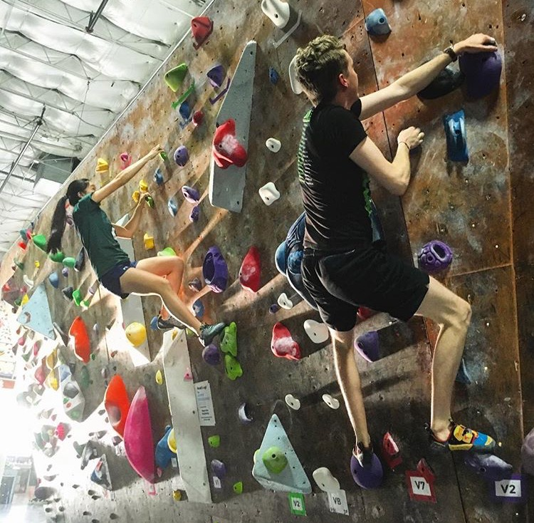 Climbers crushing during last year's League!
