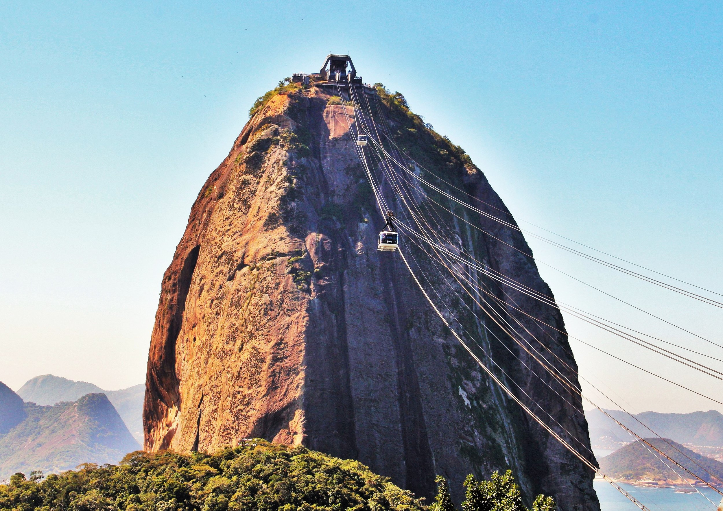 The grand Sugarloaf Mountain in Brazil.