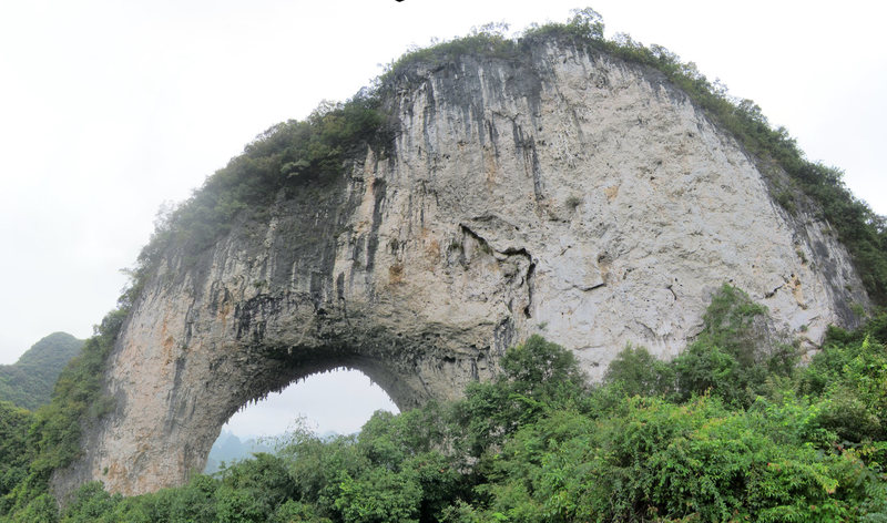LOOK AT THAT ARCH. Moon Hill, in China.