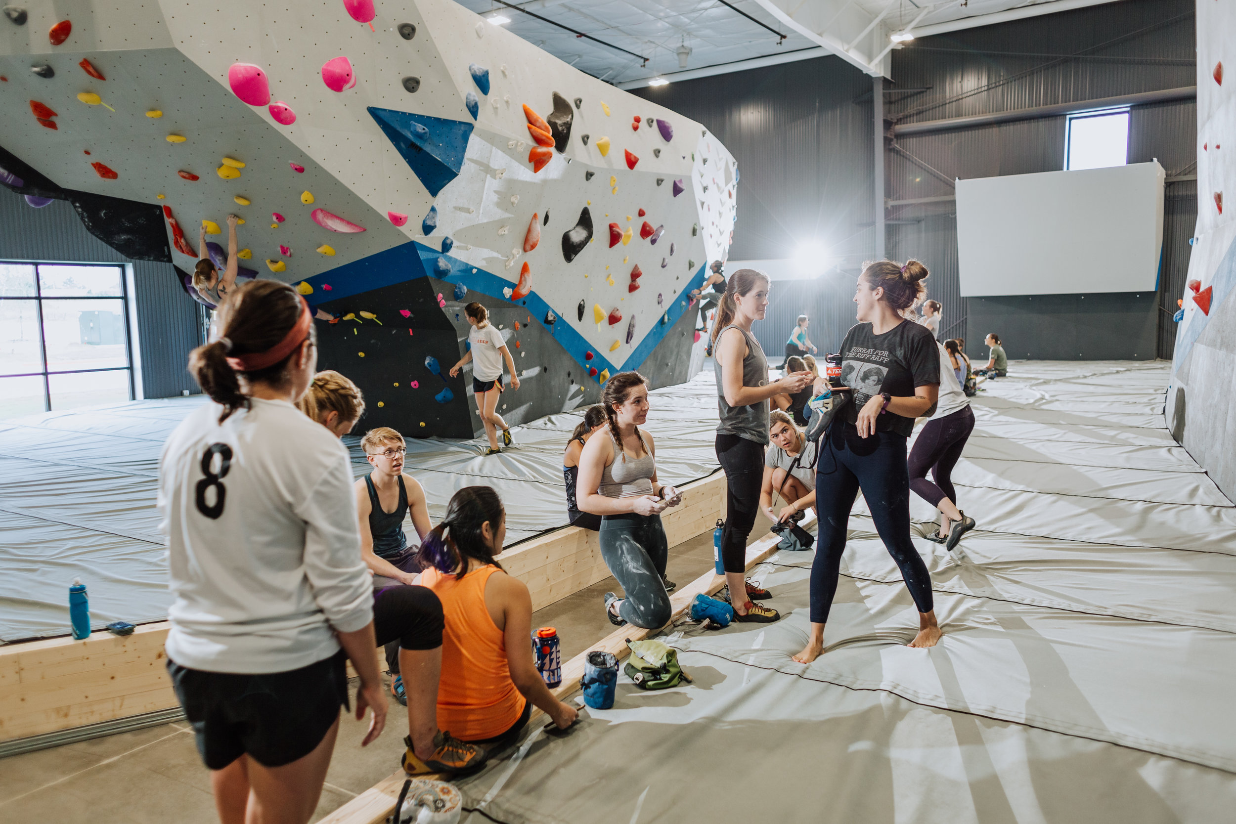 Lady Crushers League   COME CLIMB WITH AMAZING LADY CLIMBERS AT OUR WOMEN'S ONLY CLIMB-TIME ON SUNDAY MORNINGS!   Join Us!