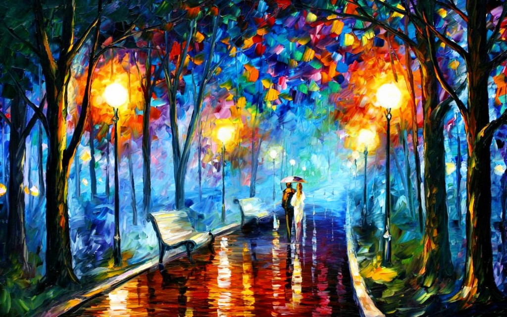 Misty Mood by Leonid Afremov via  Afremov.com
