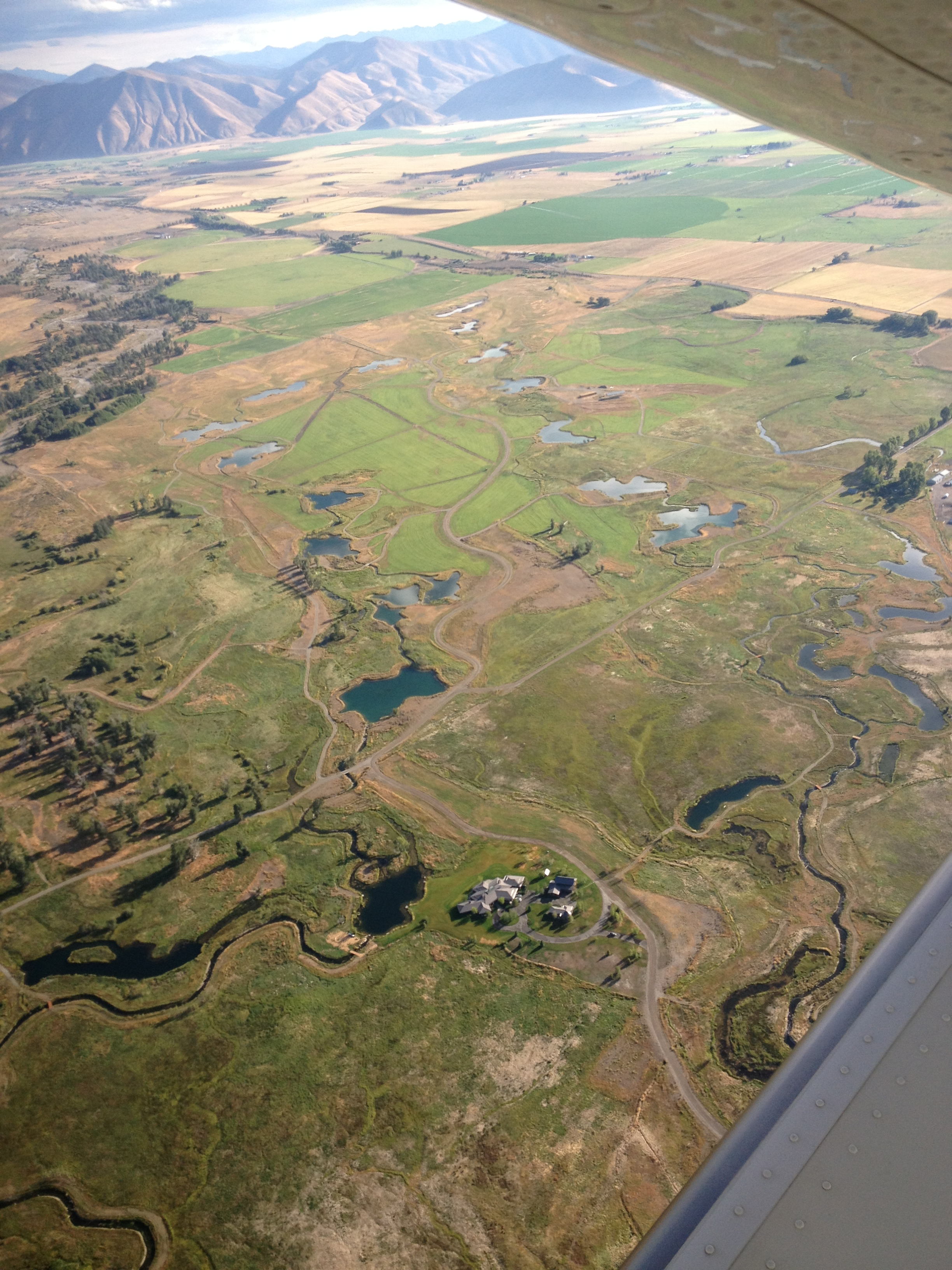 Aerial view of the wetlands at Heart Rock Ranch