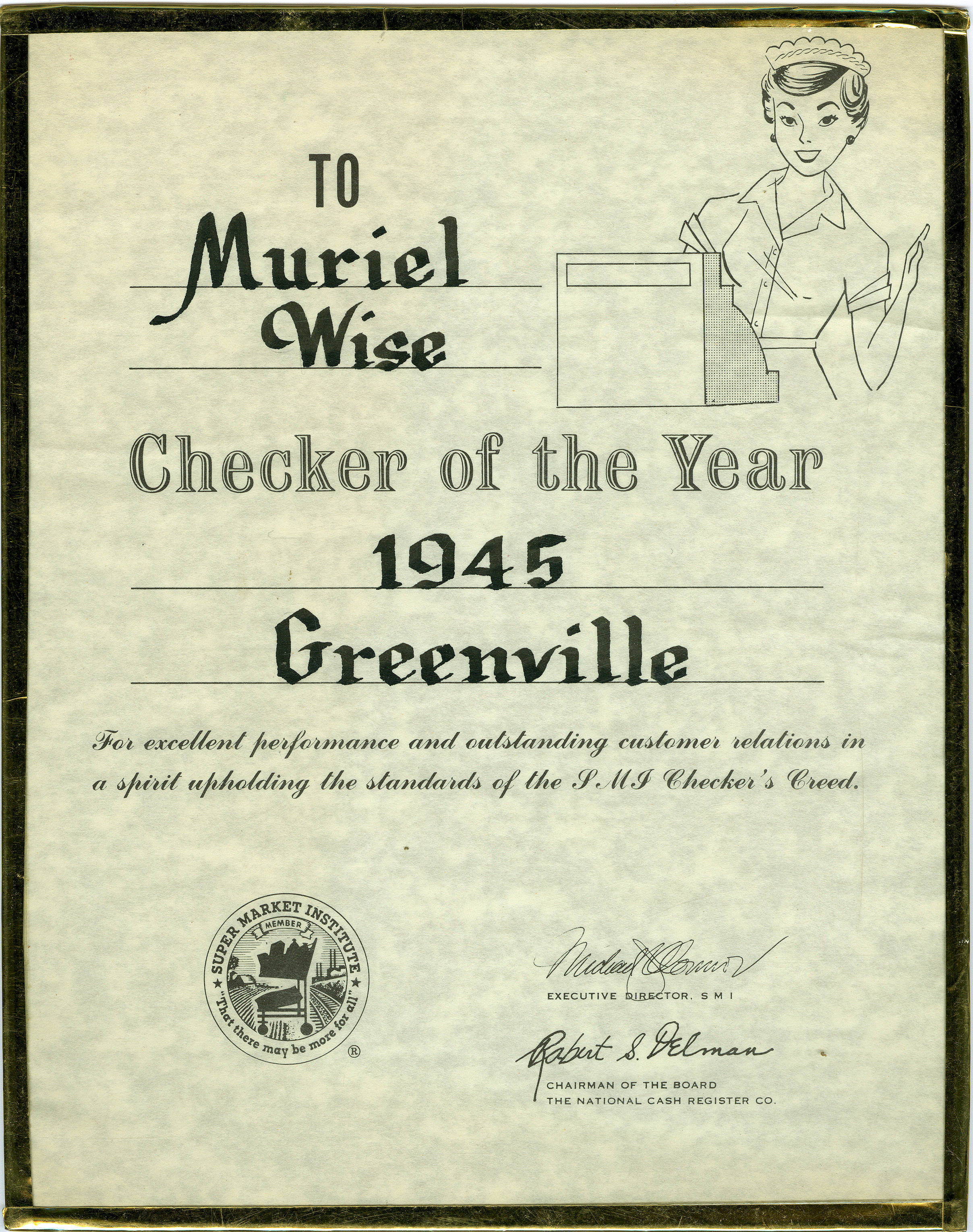 Muriel Wise-Checker of the Year 19450001.jpg