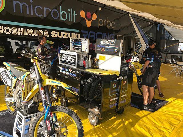 Good morning from @buddscreekmx we're ready to get some Motos in.  #teammicrobiltprbc #yoshimura #teamsuzuki #rmarmy #thisismoto #promotocross
