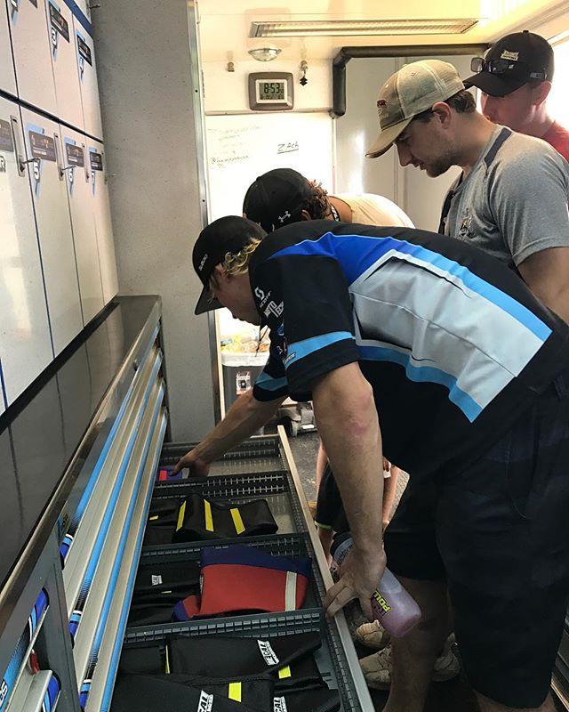 @charmon645 showing some of our VIPs the inside of the semi.  #teammicrobiltprbc #yoshimura #teamsuzuki #rmarmy #thisismoto #promotocross