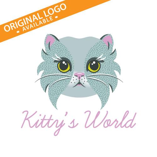Different customization options available!  Cat Logo, Cats Logo, Kitty Kat, Feline Logo, Cat Cafe Logo, Cat Boarding Logo, Pussy Cat Logo, Cat Sitting Logo, Cat Lover