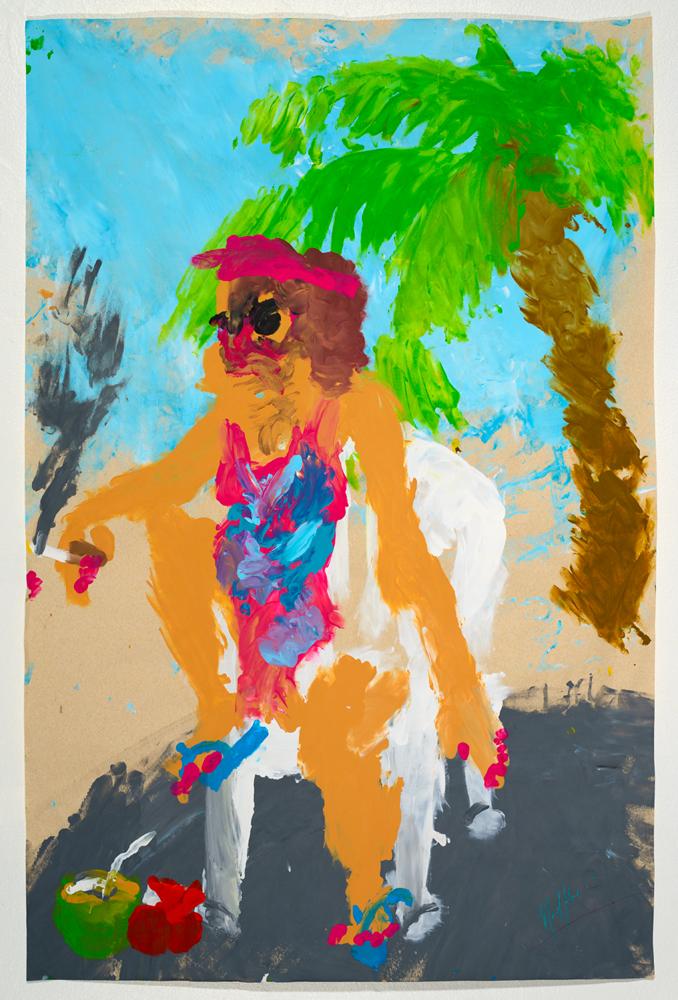 La Tia Vila   acrylic on paper 87 x 57 cm
