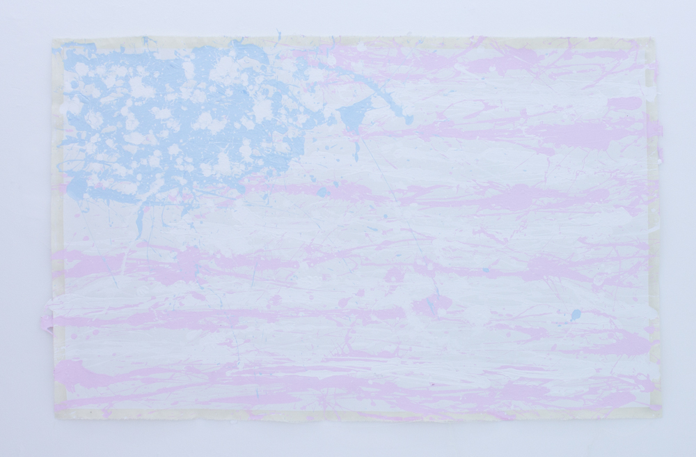 America Is The Greatest Country On Earth 2 vinyl on canvas 152 x 96 cm 2012