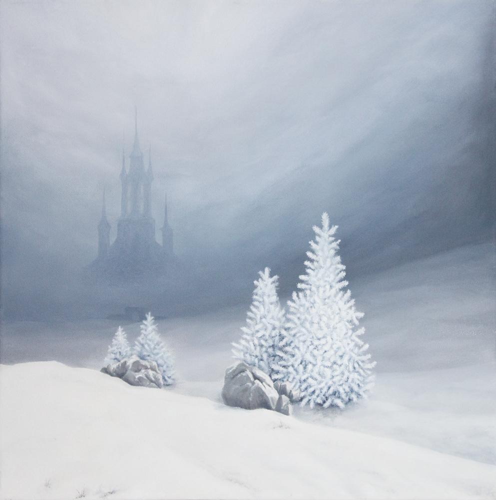 Winter Landscape   oil on canvas   50 x 50 cm   2010